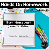 FREE: Busy Homework for Speech Therapy for K and G Sounds