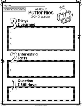 FREE Butterflies Activities - Insects Unit or Informational Text Activities
