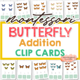 Butterfly Addition Clip Cards, Learn Math for PreK Prescho