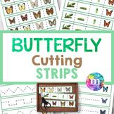 Butterfly Cutting Strips for PreK and Kindergarten   Cut a