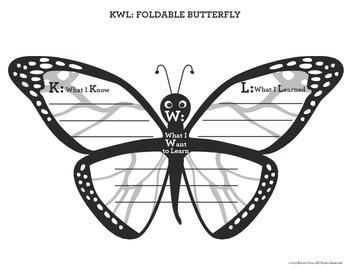 Butterfly KWL and Question & Answer Foldables {FREE}