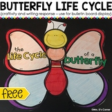 FREE Butterfly Life Cycle Craftivity and Writing Response