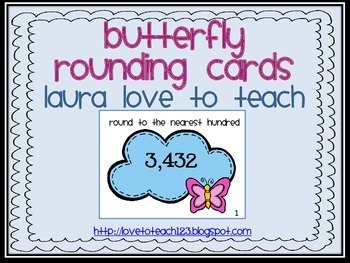 FREE Butterfly Rounding Cards
