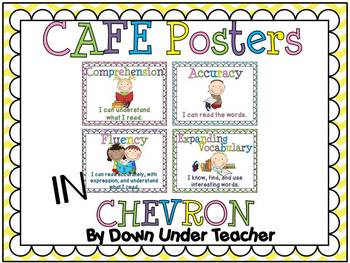FREE CAFE Posters with chevron background