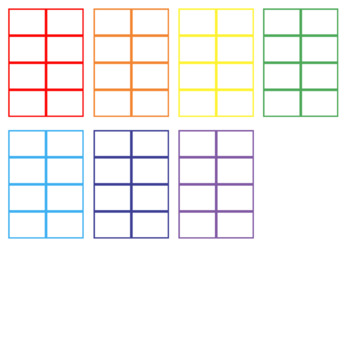 FREE: TASK CARD TEMPLATE (rainbow, 8 per page)