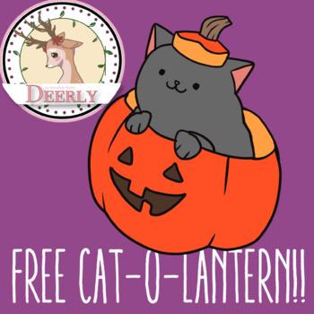 FREE CAT-O-LANTERN!! (Deerly Clipart)