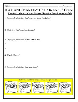 FREE CH. 1 LESSON! KAY AND MARTEZ Skills Strand Grade 1 Unit 7 Reader CCSS