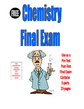 CHEMISTRY FINAL EXAM . . . Also use as a PRE-TEST and POST-TEST