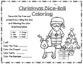 FREE CHRISTMAS DICE ROLL COLORING Worksheet for All Students