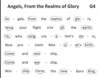 FREE CHRISTMAS HYMN Easy Chimes & Bells Arr. ANGELS FROM THE REALMS OF GLORY