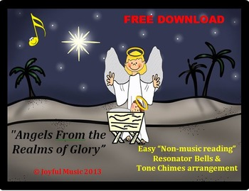FREE - CHRISTMAS HYMN Easy Chimes & Bells Arr. ANGELS FROM