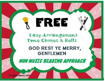 FREE CHRISTMAS HYMN Easy Tone Chimes & Bells GOD REST YE MERRY, GENTLEMEN