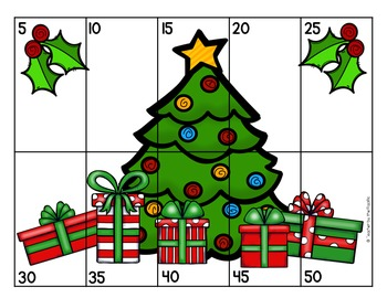FREE CHRISTMAS Math Number Puzzles