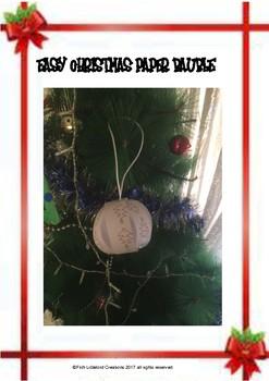 FREE CHRISTMAS PAPER CRAFT