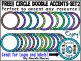 FREE CIRCLE BORDERS/ ACCENTS-SET 2-COMMERCIAL USE-COLOUR AND BLACK-WHITE