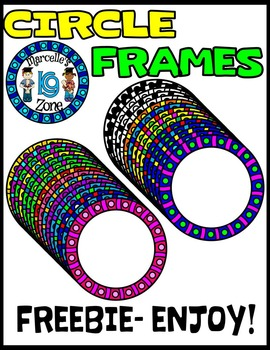 FREE CIRCLE BORDERS/ ACCENTS-SET 3-COMMERCIAL USE-COLOUR AND BLACK-WHITE
