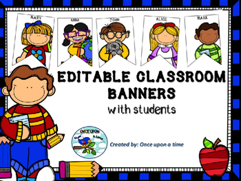 FREE CLASSROOM BANNER WITH STUDENTS Colored version
