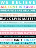 FREE CLASSROOM POSTER: Social Justice, Anti Racism, Black