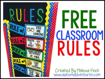 graphic regarding Free Printable Classroom Rules Poster referred to as Free of charge CLASSROOM Legislation POSTERS
