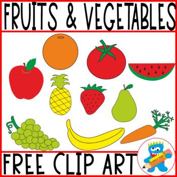 Free Clip art Fruits & Vegetables. 40 png files.