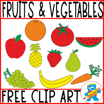 FREE CLIP ART 10 FRUITS AND VEGETABLES
