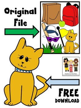 "FREE CLIP ART * SHORT ""A"" * CAT"