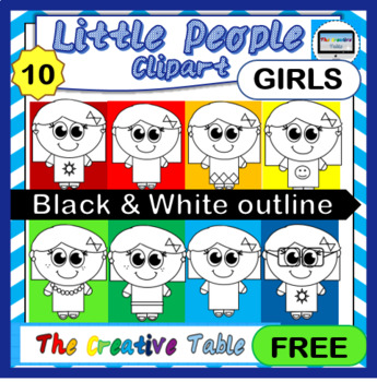 FREE CLIP ART- LITTLE PEOPLE- BLACK AND WHITE