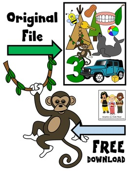 FREE CLIP ART * LONG E SOUNDS * MONKEY