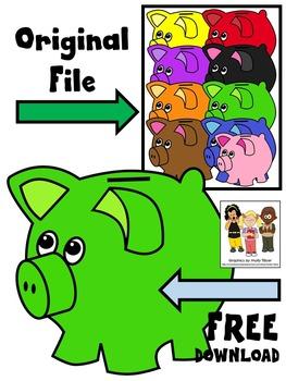 FREE CLIP ART * PIGGY BANK CLIP ART