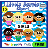 FREE CLIPART- LITTLE PEOPLE- MIXED GIRLS
