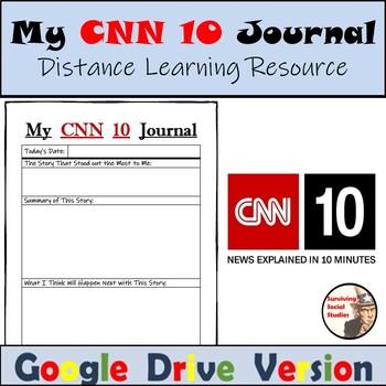 FREE CNN 10 Journal: Microsoft Word, .pdf, and Google Drive Versions