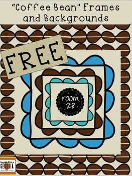"""FREE COMMERCIAL USE """"Coffee Bean"""" Frames and Backgrounds"""