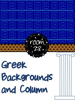 """FREE COMMERCIAL USE """"It's Greek to Me""""  Spiral Backgrounds"""