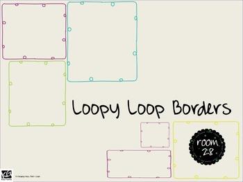 FREE COMMERCIAL USE: Loopy Loop Borders