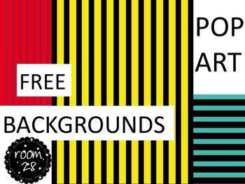 """FREE COMMERCIAL USE """"Pop Art"""" Stripe Backgrounds"""