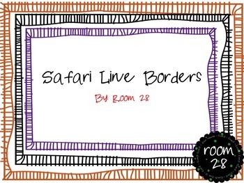 "FREE COMMERCIAL USE: ""Safari"" Line Borders"