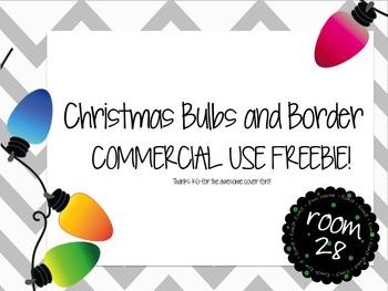 FREE COMMERICAL USE: Christmas Bulbs & Borders