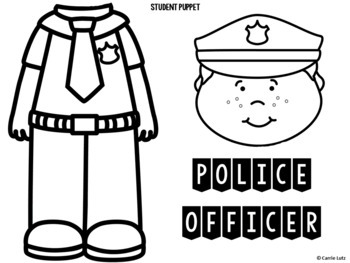 FREE COMMUNITY HELPERS BAG PUPPET - POLICE OFFICER