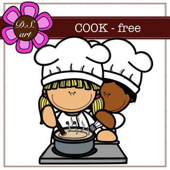 FREE - COOK Digital Clipart (color and black&white)