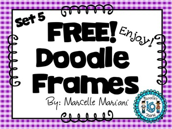 FREE COVER PAGES/DOODLE BORDERS/FRAMES-set 5 -COMMERCIAL USE