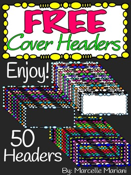 FREE COVER PAGES HEADERS/FRAMES-COMMERCIAL USE (50 FRAMES)