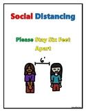 FREE COVID-19 Corona Virus Social Distancing Poster