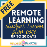 FREE COVID-19 Student-Home Lesson Planner