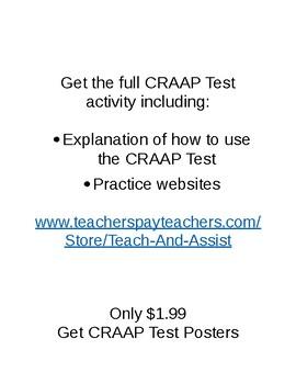 Free Craap Test Doc Reliable Sources Stem Tech Internet
