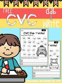 FREE CVC Dab & Write