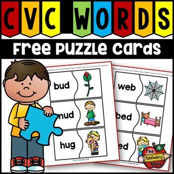 FREE CVC Puzzle Cards