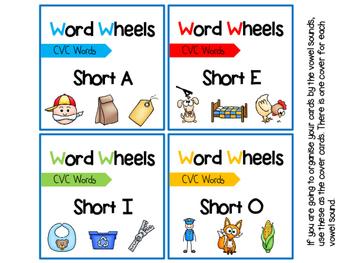 CVC Word Wheels - Blending Activity