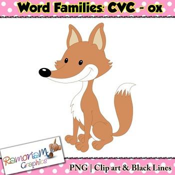 FREE CVC short vowel ox clip art