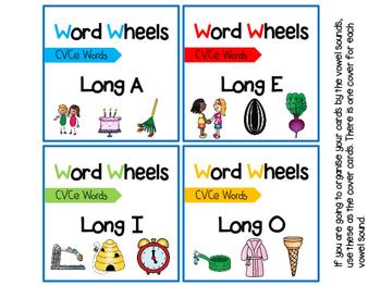 CVCe Word Wheels - Blending Activity