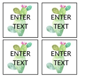 FREE Cactus Themed Subject Labels